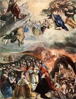 The Adoration of the Name of Jesus - El Greco