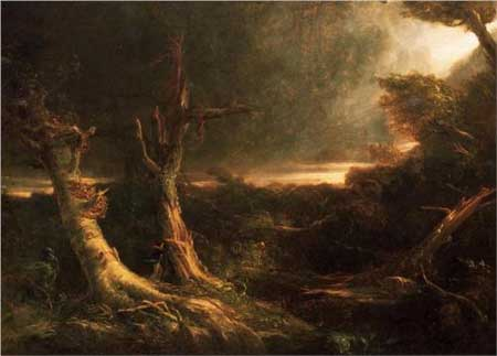 A Tornado in the Wilderness - Thomas Cole
