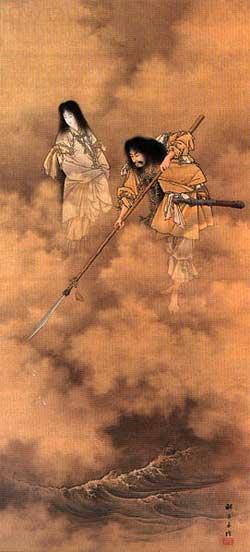 Izanagi and Izanami - Kobayashi Eitaku