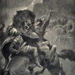 Odin and Fenris (1909) - Dorothy Hardy