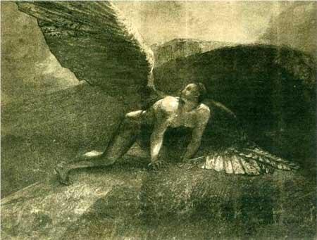 Fallen Angel - Odilon Redon