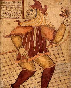 Loki - 18th century Icelandic manuscript - Artist Unknown
