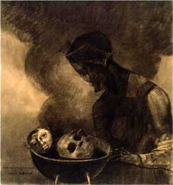Cauldron of the Sorceress - Odilon Redon