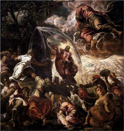 Moses Drawing Water from the Rock - Tintoretto