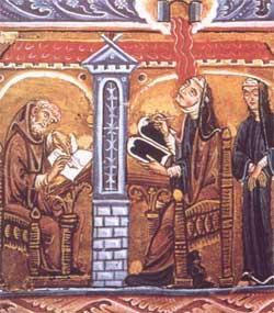 Vision of Hildegard - artist unknown