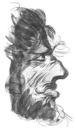 Abaddon's Face from Francis Barrett's The Magus